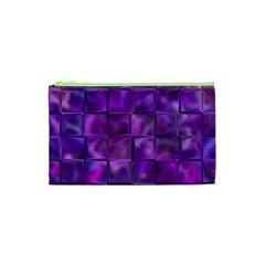 Purple Squares Cosmetic Bag (xs)