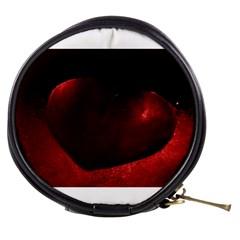 Red Heart Mini Makeup Bags