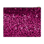 Pink Cubes Cosmetic Bag (XL) Back