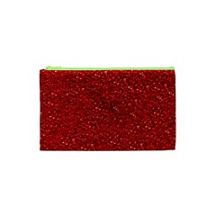 Sparkling Glitter Red Cosmetic Bag (xs)