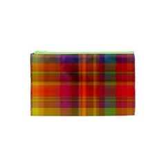 Plaid, Hot Cosmetic Bag (xs)