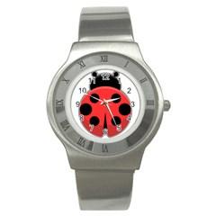 Kawaii Ladybug Stainless Steel Watches