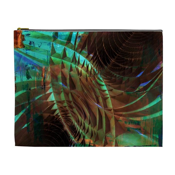 Metallic Abstract Copper Patina  Cosmetic Bag (XL)