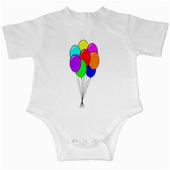Colorful Balloons Infant Creepers