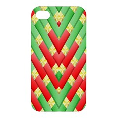 Christmas Geometric 3d Design Apple Iphone 4/4s Premium Hardshell Case