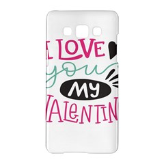 I Love You My Valentine (white) Our Two Hearts Pattern (white) Samsung Galaxy A5 Hardshell Case