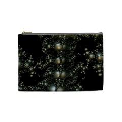 Fractal Math Geometry Backdrop Cosmetic Bag (medium)