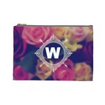 Vintage Monogram Flower Vintage Monogram Flower Cosmetic Bag (Large)  Front