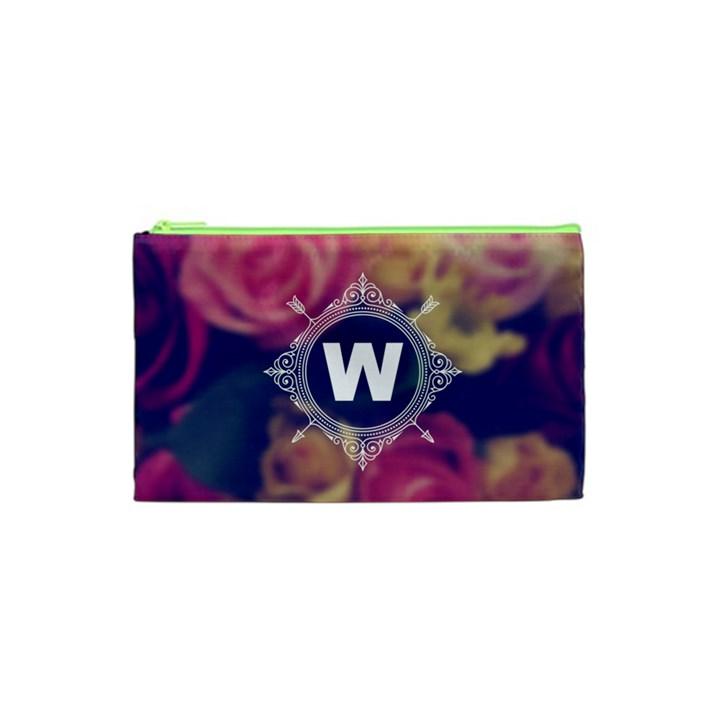 Vintage Monogram Flower Vintage Monogram Flower Cosmetic Bag (XS)