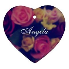 Vintage Monogram Flower Ornament (heart)