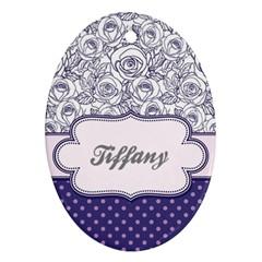 Pattern Purple 2 Ornament (oval)