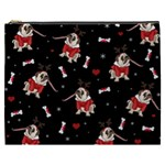 Pug Xmas Pattern Cosmetic Bag (XXXL)  Front