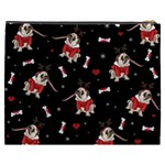Pug Xmas Pattern Cosmetic Bag (XXXL)  Back