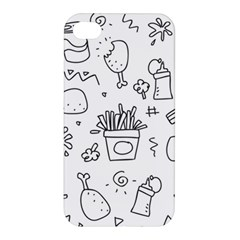 Set Chalk Out Scribble Collection Apple Iphone 4/4s Premium Hardshell Case
