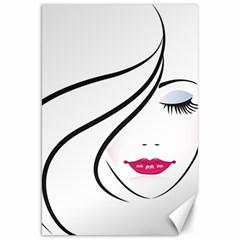Makeup Face Girl Sweet Canvas 20  X 30
