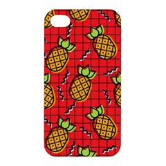 Fruit Pineapple Red Yellow Green Apple Iphone 4/4s Premium Hardshell Case