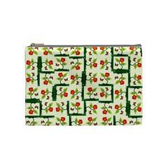Plants And Flowers Cosmetic Bag (medium)