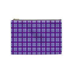 Purple Tartan Cosmetic Bag (medium)