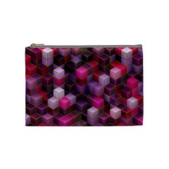 Cube Surface Texture Background Cosmetic Bag (medium)