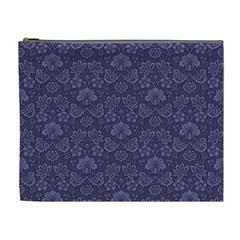 Damask Purple Cosmetic Bag (xl)