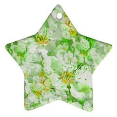 Light Floral Collage  Ornament (star)