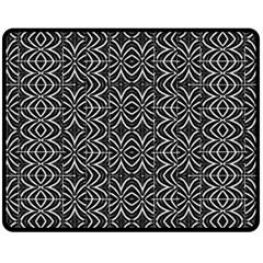 Black And White Tribal Print Double Sided Fleece Blanket (medium)